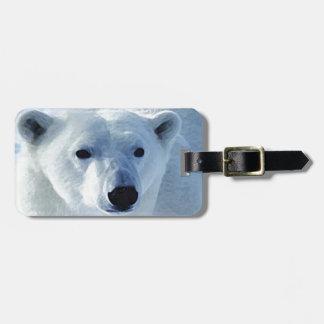 Oso polar etiquetas maletas