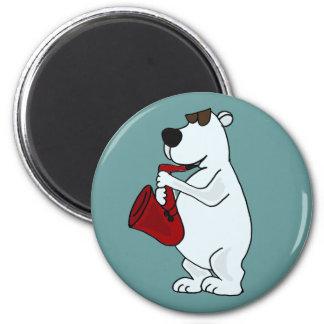 Oso polar fresco AO que juega el dibujo animado de Imán Para Frigorifico
