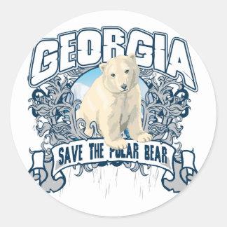 Oso polar Georgia Pegatina Redonda