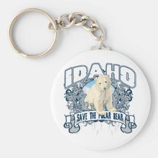 Oso polar Idaho Llavero Redondo Tipo Pin