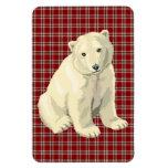 oso polar imán foto rectangular