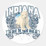 Oso polar Indiana Etiqueta Redonda