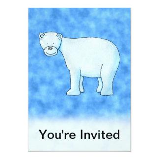 Oso polar invitación 12,7 x 17,8 cm