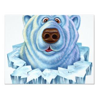 """oso polar invitación 4.25"""" x 5.5"""""""