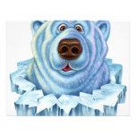 oso polar invitaciones personales