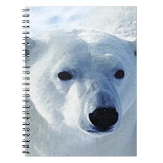 Oso polar libro de apuntes con espiral
