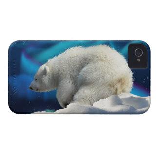 Oso polar lindo Cub y caja del teléfono de la Case-Mate iPhone 4 Cárcasas