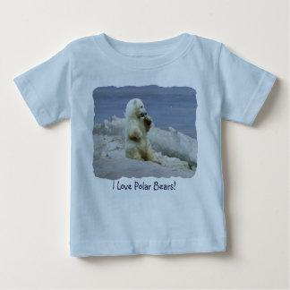 Oso polar lindo Cub y camisa ártica de los niños