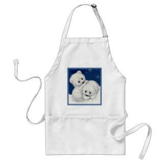 Oso polar lindo Cubs Delantal