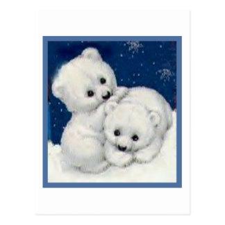 Oso polar lindo Cubs Postal