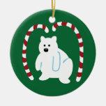 Oso polar lindo ornamentos de navidad