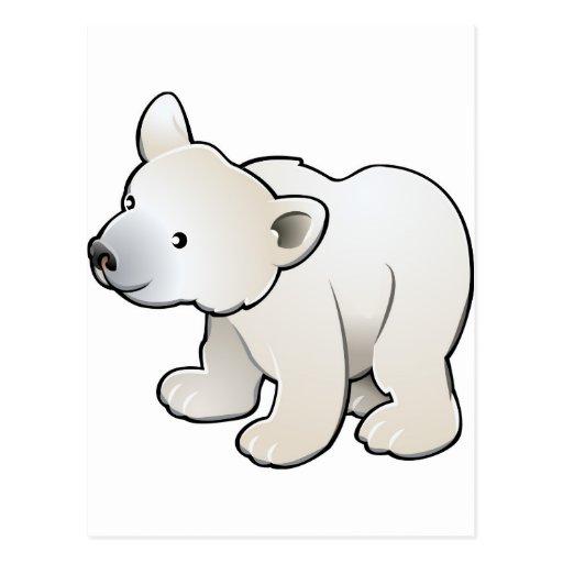 oso polar lindo postal