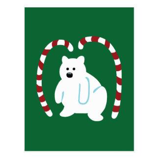Oso polar lindo tarjeta postal