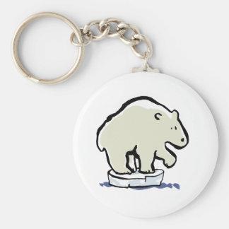 oso polar llavero redondo tipo pin