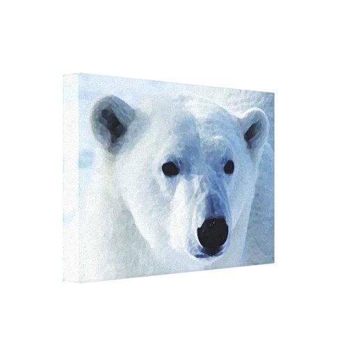 Oso polar lona estirada galerias