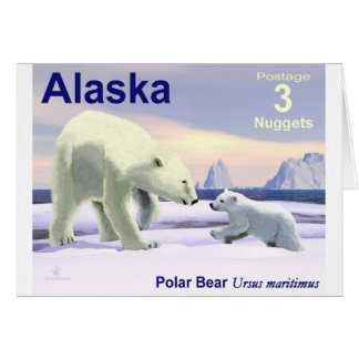 Oso polar - mamá Nose Best Felicitaciones