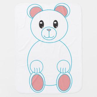 Oso polar mantas de bebé