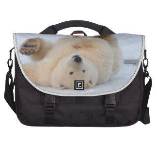 oso polar maritimus del Ursus cachorro que rueda Bolsas De Ordenador