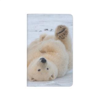 oso polar, maritimus del Ursus, cachorro que rueda Cuadernos