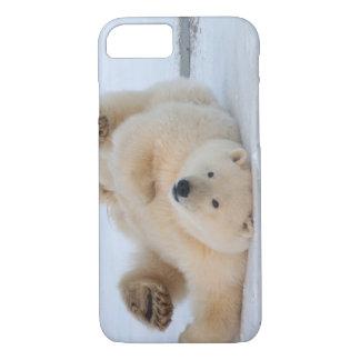 oso polar, maritimus del Ursus, cachorro que rueda Funda iPhone 7