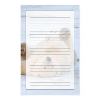 oso polar, maritimus del Ursus, cachorro que rueda Papeleria De Diseño