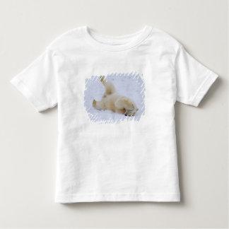 oso polar, maritimus del Ursus, cachorro que rueda Playera De Bebé