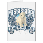 Oso polar Mississippi Tarjetón