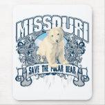 Oso polar Missouri Alfombrillas De Ratones