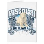 Oso polar Missouri Tarjetas