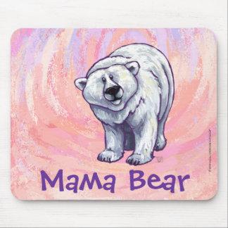 Oso polar Mousepad de mamá Bear Alfombrillas De Ratones