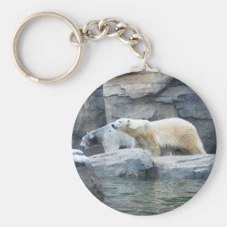 Oso polar: Nakita y Berlín Llavero Redondo Tipo Pin
