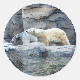 Oso polar: Nakita y Berlín Pegatina Redonda