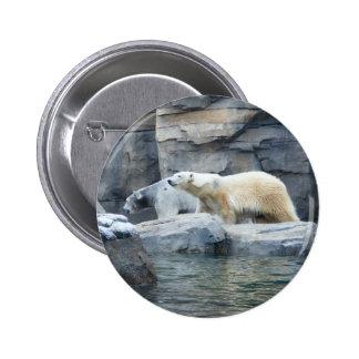 Oso polar: Nakita y Berlín Pin Redondo De 2 Pulgadas