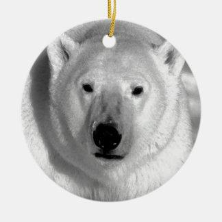 Oso polar negro y blanco ornamentos de navidad
