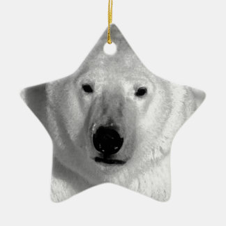 Oso polar negro y blanco ornamentos para reyes magos