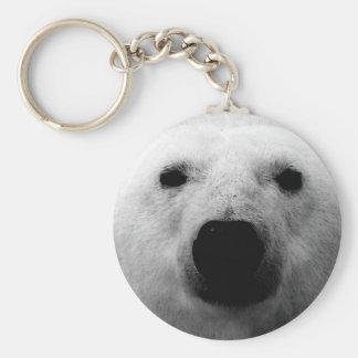 Oso polar negro y blanco llavero personalizado