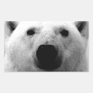 Oso polar negro y blanco rectangular altavoz