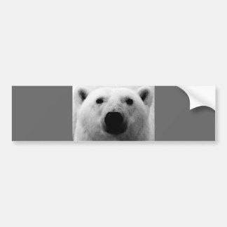Oso polar negro y blanco pegatina para auto