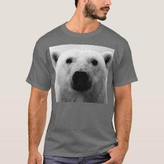 Oso polar negro y blanco playera