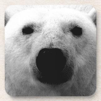 Oso polar negro y blanco posavasos