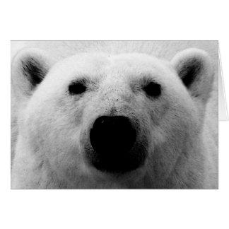 Oso polar negro y blanco tarjeta de felicitación