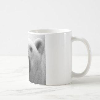 Oso polar negro y blanco taza básica blanca