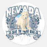 Oso polar Nevada Etiqueta Redonda