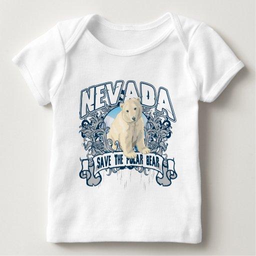 Oso polar Nevada Playera De Bebé