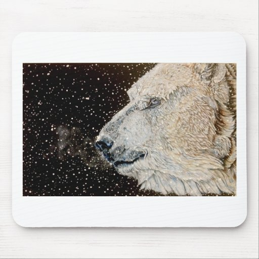 Oso polar Nevado Alfombrillas De Ratones