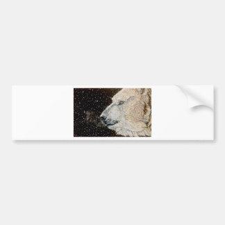 Oso polar Nevado Pegatina De Parachoque