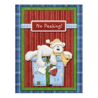 Oso polar ningunas tarjetas de Navidad que miran a Postal