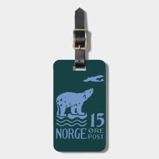 Oso polar noruego 1925 etiquetas de maletas