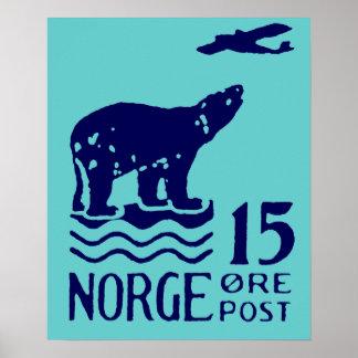 Oso polar noruego 1925 poster