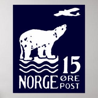 Oso polar noruego 1925 impresiones